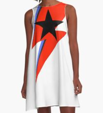 sane bolt, black star A-Line Dress