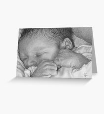First Snuggle Greeting Card