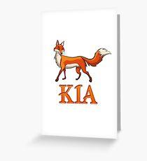 Kia Fox Greeting Card