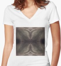 futurism, victorian style, victorian style art, bondage, steampunk bondage, skin, skin pattern Women's Fitted V-Neck T-Shirt