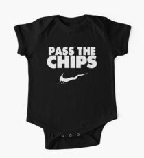 Pass the Chips - Nike Parody (White) One Piece - Short Sleeve