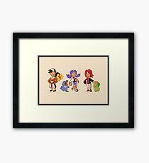 Johto Kids Framed Print