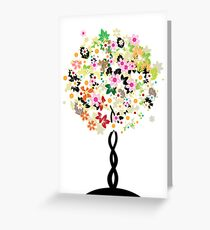 Floral tree Greeting Card