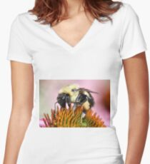 Bumble Women's Fitted V-Neck T-Shirt