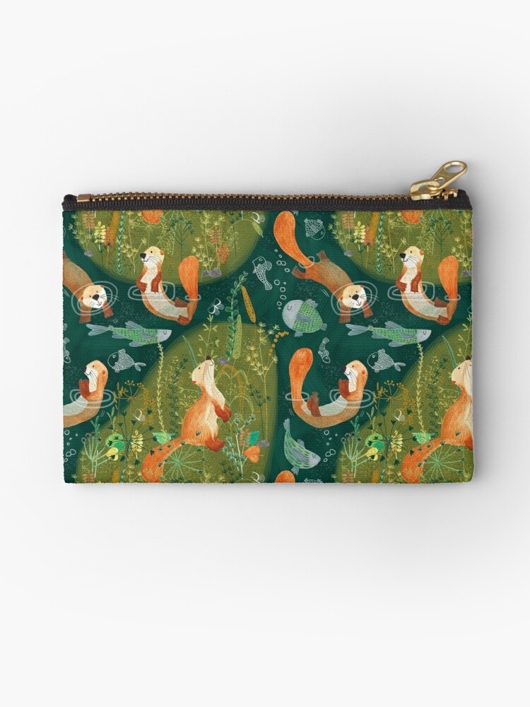 Pattern 74 - Playful otters by the river  by Irene Silvino