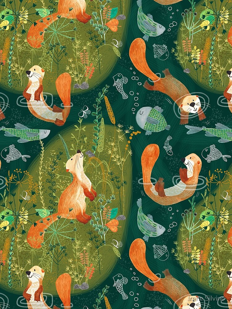 Pattern 74 - Playful otters by the river  by IreneSilvino