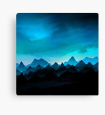 Night Storm In The Mountains Canvas Print