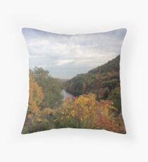 Horseshoe Curve Lake Throw Pillow