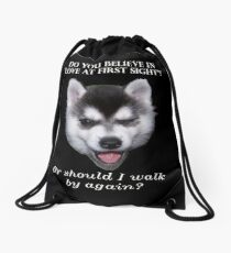 Klee Kai Pick up Artist Drawstring Bag