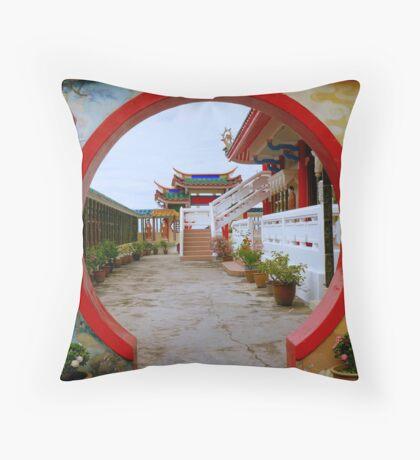 Kek Lok Si Temple gate Throw Pillow