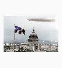 Washington Capitol and Blimp Photographic Print