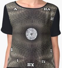 skin pattern, diamond, brilliant, rock, adamant, minikin, watch face, clock face Chiffon Top