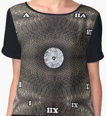 skin pattern, diamond, brilliant, rock, adamant, minikin, watch face, clock face Chiffon Top