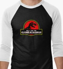Billy and the Cloneasaurus Men's Baseball ¾ T-Shirt