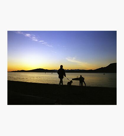 sunset on the beach Photographic Print