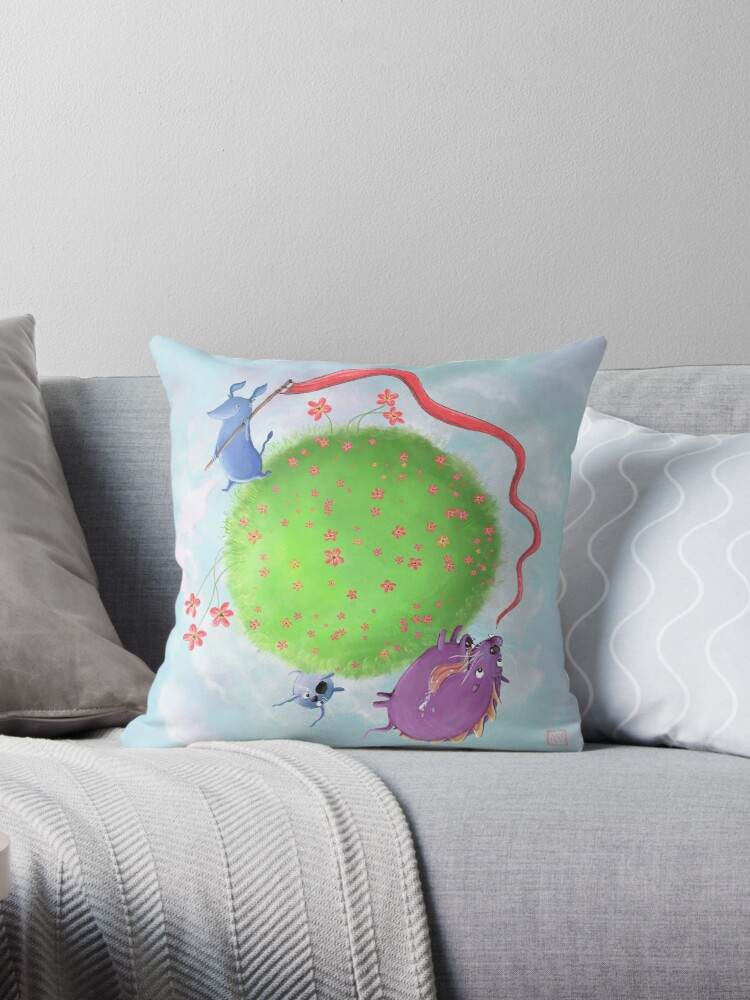 Quot Round And Round Quot Throw Pillows By Nora Surojegin Redbubble