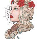 «Elfa con gorrión» de Galbrin