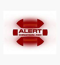 Red Alert - Star Trek Photographic Print