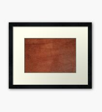 brown leather, science fiction, speculative fiction, imaginative concept, futuristic science, futuristic technology Framed Print