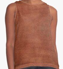skin, skin pattern, diamond, brilliant, rock, adamant, minikin, watch face, clock face, brown leather, leather  Contrast Tank