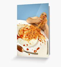 spaghetti good Greeting Card