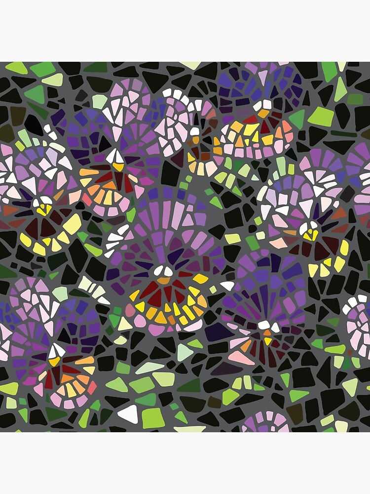 Mosaik lila Stiefmütterchen von jackiejeanq