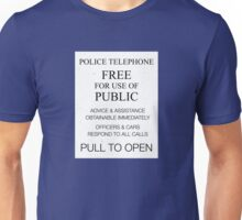 TARDIS Door Sign  Unisex T-Shirt