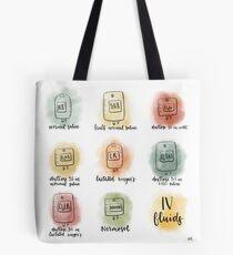 Aquarell IV Flüssigkeiten Tote Bag