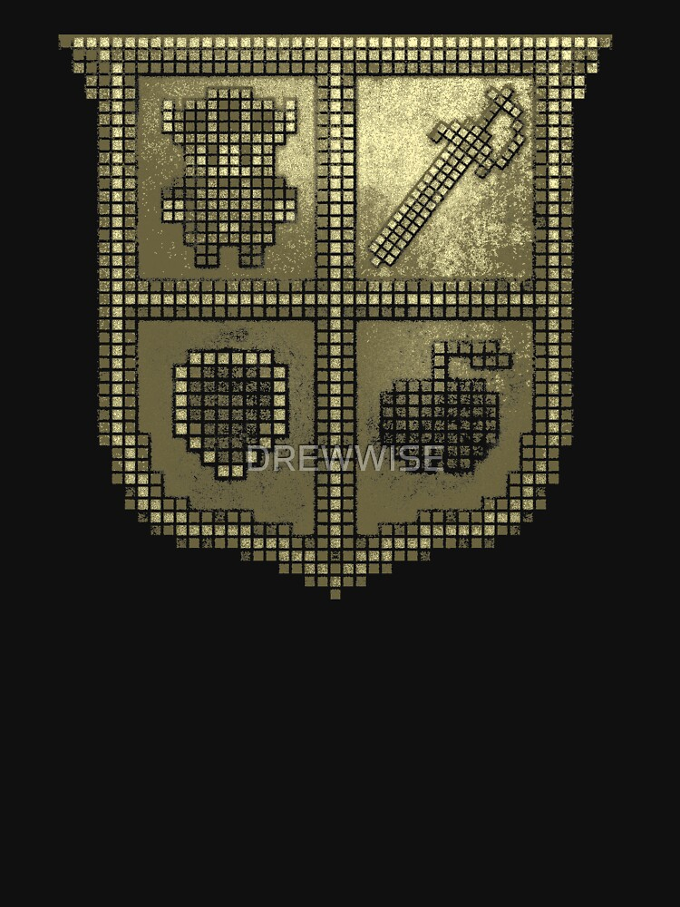 3D DOT GOLD SHIELD by DREWWISE