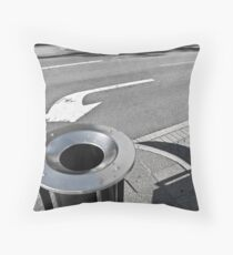 Turn left to dispose of litter Throw Pillow