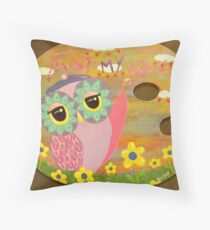 Paint My Love Throw Pillow