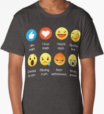 J'aime Math Emoji Emoticon Funny Mathematics Graphic Tee shirts Sarcastique T-shirt long