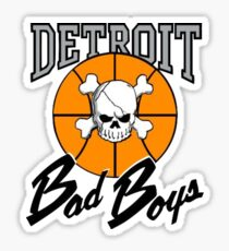 Vintage Detroit Bad Boys Detroit Pistons Basketball Sticker