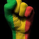 Flagge von Mali auf einer angehobenen geballten Faust von jeff bartels