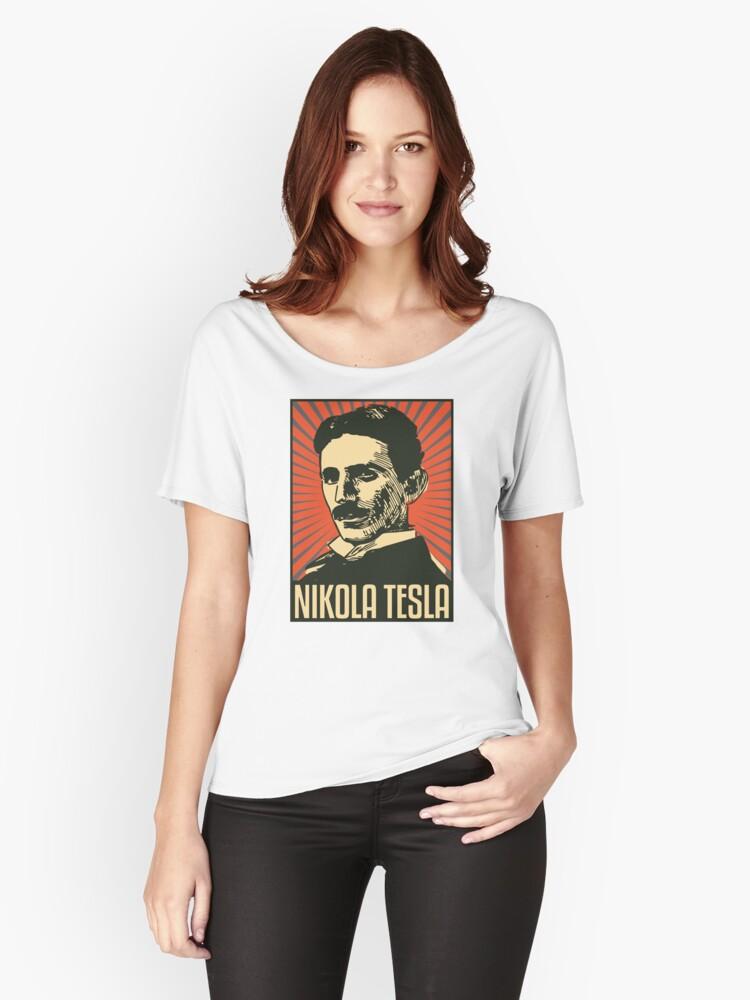 Nikola Tesla Women's Relaxed Fit T-Shirt Front