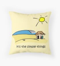 Simple Things - Surf Shack Throw Pillow