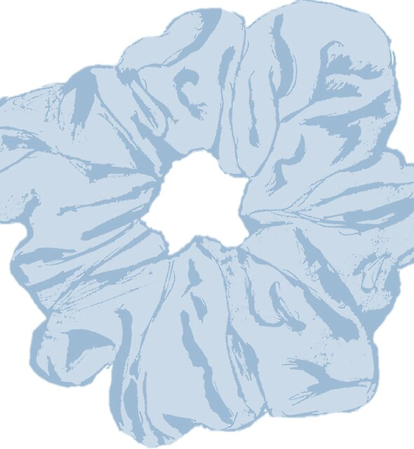 Blue Scrunchie by Claudia Hammoud