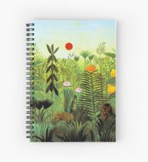 """Henri Rousseau """"Exotic Landscape with Lion and Lioness in Africa"""", 1903-1910 Spiral Notebook"""