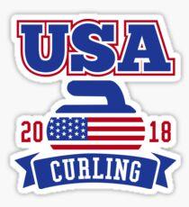 USA Curling 2018 Sticker