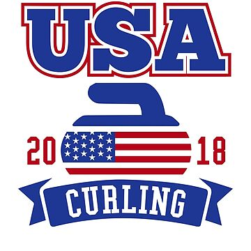 USA Curling 2018 by DetourShirts