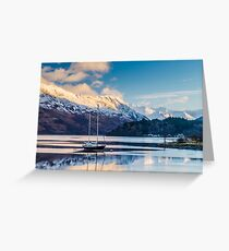 Loch Leven and Glencoe Village Greeting Card