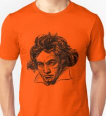 Ludwig Van Beethoven line drawing Unisex T-Shirt