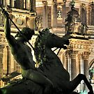 Great Statue by the Berliner Dom by pdsfotoart