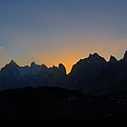 Trango Towers at sunset by fineartphotos