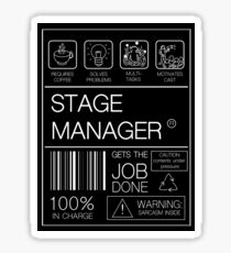 Stage Manager Label  Sticker