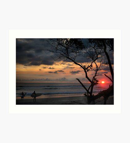 sunset in paradise Art Print