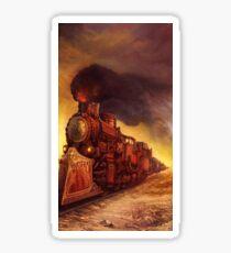 Steampunk Locomotive Sticker