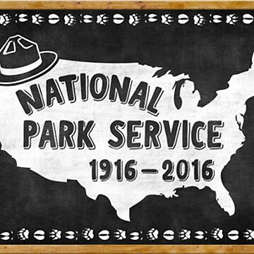 National Park Service Centennial Vintage Decal by MeLikeyTees
