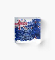 Bloque acrílico New Zealand Vintage Flag