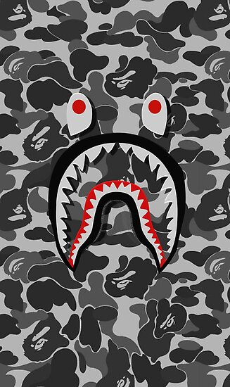 Bape Shark Face Posters By RobertHiggins